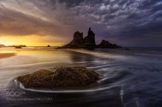 dddd Sunset in bad weather in Benijo.Tenerife. by eliecer0404
