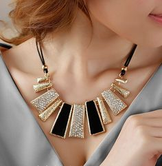 Cheap leather free, Buy Quality necklace crystal directly from China leather necklace cord Suppliers:  2014 Women Fashion Statement Necklace Jewelry Enamel Bib Leather Braided Rope Chain Collar Necklaces & Pendants Col