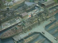Military Harbour 1/400 Scale Model Diorama
