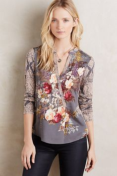 Jardim Wrap Top #anthropologie I love this but could not find it on the Anthropologie website :(