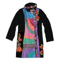 Desigual Sis Temas jacket 27E2994, Free Shipping at CelebrityModa.com