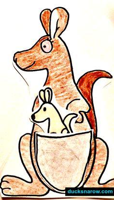 K is for Kangaroo Preschool Lesson #kidscrafts #preschool