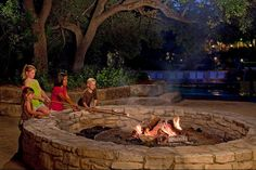 S'mores by the fire pit - enjoy them every summer night! @ the Hyatt Regency Hill Country Resort in San Antonio.