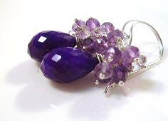 Purple Chalcedony Amethyst Sterling Silver Cascade by OBTPjewelry, $41.00