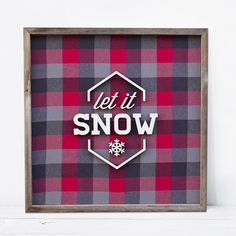 I'm sooooo excited about my winter designs! This is one of my favorites. #letitsnow #OTFM #oldtownfleamarket #lasercut #lasercutting #flannel #rustic #rusticdecor #christmas by harpergrayce