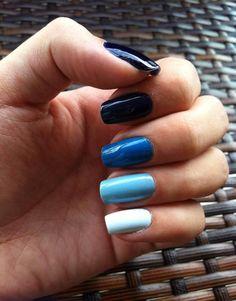 Shadows of blue nails