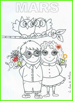 Coloriage de mars 2: le printemps! French Lessons, Teaching French, Preschool Kindergarten, Lessons For Kids, Easter Crafts, Diy For Kids, Activities For Kids, Snoopy, Seasons