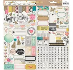 Autocollants 'Crate Paper - Confetti' Journaling