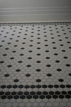 Creative Tile Flooring Patterns - hex tile - black and white pattern