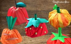 Craftventure Time: DIY Fruit and Veggies Hats from Paper Boat, Part II