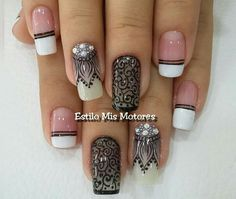 Flower Nail Designs, Flower Nails, Manicure And Pedicure, Nail Colors, Nail Art, Pretty, Beauty, Style, Nail Design