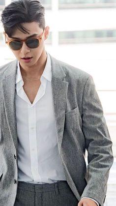 Korean Fashion – Designer Fashion Tips Korean Star, Korean Men, Asian Men, Asian Actors, Korean Actors, Korean Celebrities, Celebs, Joon Park, Yoo Ah In