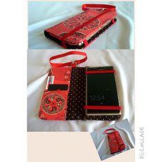Capa para Celular Rosetas Vermelhas  www.munayartes.com