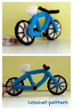 Crochet pattern for realistic amigurumi bicycle by #tinyAlchemy