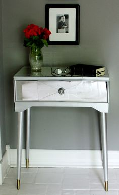Turn A Sewing Table Into A Mirrored Show Stopper Mod Home Ec