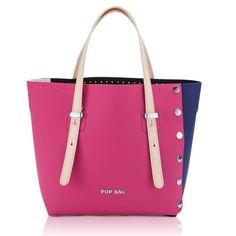 Shopping Pop Bag By J&C POPG-02 Blu-Fuxia