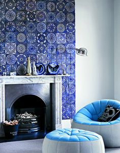 gorgeous fireplace tile