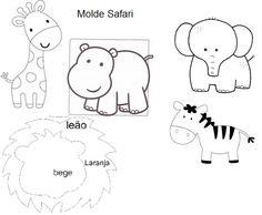 Ayser ile&cicibici isler: Keçe zürafa-fil safari hayvancıklar için kalıplar