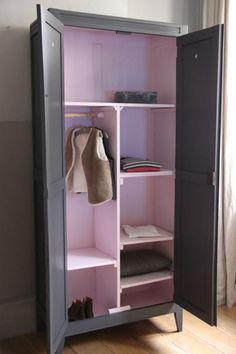 armoire b b mel blanche 2 portes maison pinterest. Black Bedroom Furniture Sets. Home Design Ideas