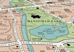 Jane Austen- Mansfield Park Map