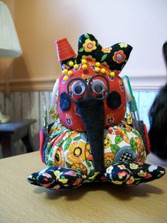 Fun and Adorable Sewing Creatures - which are sewing caddy's!!