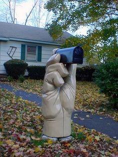 *The hand mailbox
