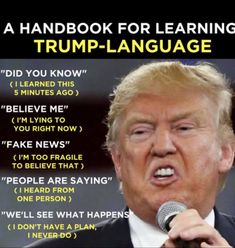 How to decipher the verbal desentery that spews, non-stop, out of mr. moron's mouth. Political Quotes, Political Cartoons, Political Satire, Trump Cartoons, Shit Happens, Anti Trump Meme, Trump Funny, Stupid Trump Supporters, Trump Lies