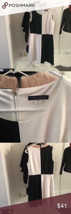 Tommy Hilfiger size 6 excellent Tommy Hilfiger excellent condition dress size 6 super comfy mod black and white Tommy Hilfiger Dresses Midi