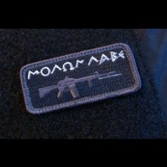 Molon Labe Morale Patch by The Tactical Gentleman!