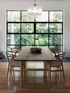 Related posts: DIY Husky Modern Dining Table Wonderful Dining Rooms With Small Functional Dining Tables 75 Modern Farmhouse Dining Room Decor Ideas 45 Bay Window Ideas with Modern Interior Design Dining Room Table Decor, Dining Table Design, Dining Room Lighting, Dining Room Furniture, Wood Table, Dining Area, Natural Wood Dining Table, Simple Dining Table, Retro Dining Chairs