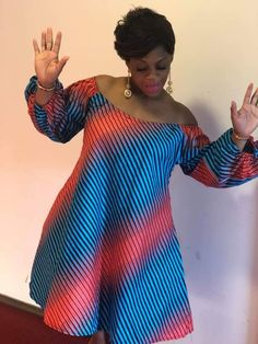 Off the shoulder cuteness Short African Dresses, Latest African Fashion Dresses, African Print Dresses, African Print Clothing, African Print Fashion, Africa Fashion, African Clothes, African Traditional Dresses, African Attire