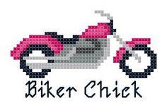 Harley Davidson Motorcycle Biker Chick Counted by TheGiftMarket, $3.00