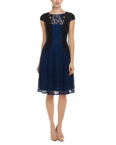 Adrianna Papell Atlantic & Black Lace Dress is on Rue. Shop it now.