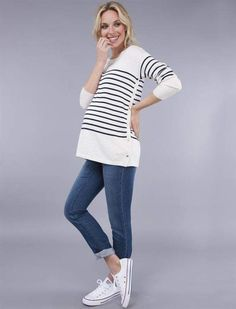 Seraphine Pull Down Nursing Top affiliate link  Cute striped maternity top for pregnancy and nursing