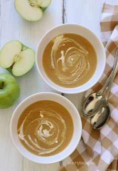 This soup tastes like Fall in a bowl! Apples and caramelized onions are simmered with cider and broth,...