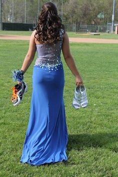 Formal short dress wearing cleats carrying heels, bat and mit on shoulder Quinceanera Photography, Prom Photography, Softball Photography, Friend Photography, Maternity Photography, Couple Photography, Prom Picture Poses, Prom Poses, Picture Ideas