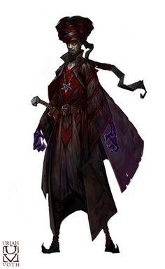 Boz Shulun -Human Necromancer by Uriah Voth