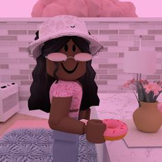 Light Blue Aesthetic, Black Girl Aesthetic, Black Hair Roblox, Funny Instagram Memes, Funny Profile Pictures, Cool Avatars, Cute Tumblr Wallpaper, Roblox Animation, Roblox Roblox