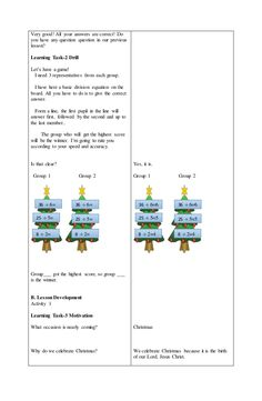 Lesson Plan in Math II Grade 1 Lesson Plan, Daily Lesson Plan, Science Lesson Plans, Teacher Lesson Plans, Kindergarten Lesson Plans, Science Lessons, Lesson Plan Examples, Lesson Plan Templates, Lesson Plan In Filipino