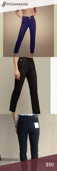 AG Phoebe jeans These ultra high rise slim jeans by AG have just a hint of slouch for a relaxed silhouette.  New with tags from Anthropologie. Ag Adriano Goldschmied Jeans
