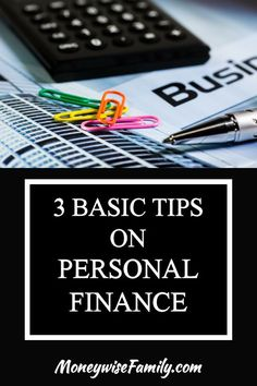 3 Starting Points of Personal Finance
