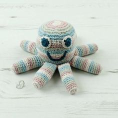 If they are going to put them in their mouths- better make sure it's organic!  Organic Cotton Octopus Rattle | Pebble | Organic & Fairtrade