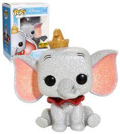 Disney Dumbo (Glitter) - Diamond Collection - New, Mint Condition Funko Pop Display, Pop Disney, Funko Pop Dolls, Pop Figurine, Funk Pop, Pop Toys, Pop Vinyl Figures, Pop Figures Disney, Pop Collection