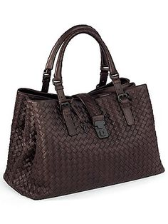 bottega veneta Roma Bag Moro by Name 2 Puzzle Tote Handbags, Purses And Handbags, Leather Handbags, Leather Bags, Beautiful Handbags, Beautiful Bags, Sacs Design, Fab Bag, Cute Bags