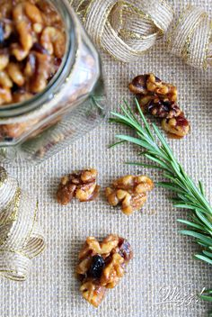 Candied Rosemary Walnut Clusters | Holiday Candied Nuts | Wozz ...