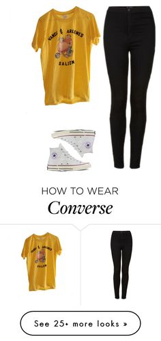 """Untitled #667"" by iiscool on Polyvore featuring Topshop and Converse"