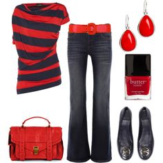 Navy & Red, created by blue-star-marie