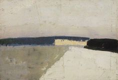 Nicolas de Stael 1952 --- I love this one because it reminds me of a rainy, cold afternoon. Beautiful, desolate, and comforting for some reason. Abstract Landscape Painting, Landscape Art, Landscape Paintings, Abstract Art, Art En Ligne, Abstract Expressionism, Land Scape, Online Art, Painting Inspiration