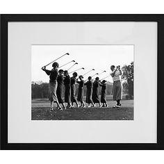 Golf Lesson Framed Print