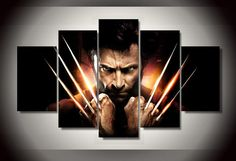 Style Your Home Today With This Amazing 5 Panel Wolverine Claws Framed Wall Art Canvas For $99.00  Discover more canvas selection here http://www.octotreasures.com  If you want to create a customized canvas by printing your own pictures or photos, please contact us.